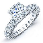 Willow – Round With Sidestones Diamond Ring