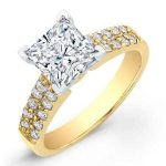 Malva – Princess With Sidestones Diamond Ring
