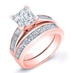 Ayana – Princess With Sidestones Diamond Wedding Set