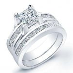Ilima – Princess With Sidestones Diamond Wedding Set