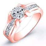 Ilima – Round With Sidestones Diamond Ring