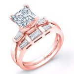 Sorrel – Princess With Sidestones Diamond Wedding Set