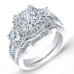 Erica – Princess Halo Diamond Wedding Set