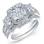 Erica – Round Halo Diamond Wedding Set