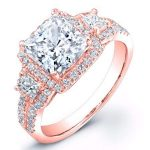 Erica – Princess Halo Diamond Ring