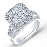 Viola – Princess Halo Diamond Wedding Set