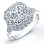 Viola – Princess Halo Diamond Ring