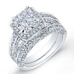 Buttercup – Princess Halo Diamond Wedding Set