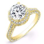 Buttercup – Round Halo Diamond Ring
