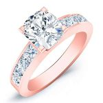 Ayana – Cushion With Sidestones Diamond Ring