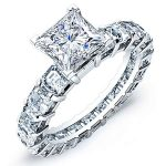 Willow – Princess With Sidestones Diamond Ring