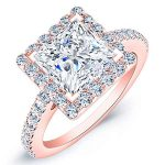 Mallow – Princess Halo Diamond Ring