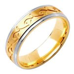 18k 2-tone Gold Wedding Band Ring