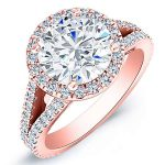 Silene – Round Halo Diamond Ring