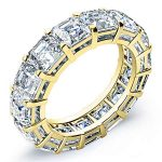 7 Carat Asscher Cut Diamond Eternity Band Si F