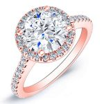 Mallow – Round Halo Diamond Ring