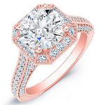 Wallflower – Princess Halo Diamond Ring