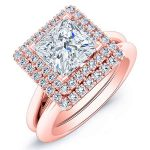 Tulip – Princess Halo Diamond Wedding Set