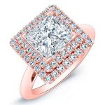 Tulip – Princess Halo Diamond Ring