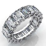 7 Carat Baguette Cut Diamond Eternity Band Si F