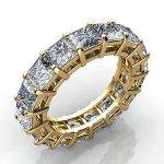 3.5 Carat Princess Cut Diamond Eternity Band Si H