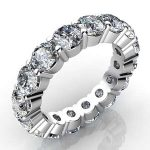 5 Carat Round Cut Diamond Eternity Band Si H