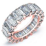 10 Carat Baguette Cut Diamond Eternity Band Si F