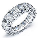 10 Carat Baguette Cut Diamond Eternity Band Si H