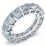 5 Carat Princess Cut Diamond Eternity Band Si H