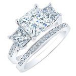 Dietes – Princess With Sidestones Diamond Wedding Set