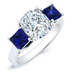 Ilex – Cushion With Sidestones Diamond Ring