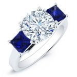 Ilex – Round With Sidestones Diamond Ring