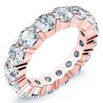7 Carat Round Cut Diamond Eternity Band Si H