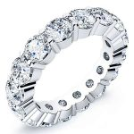 2.5 Carat Round Cut Diamond Eternity Band Vs2 H
