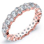 3.5 Carat Round Cut Diamond Eternity Band Si H