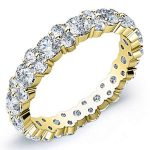 2.5 Carat Round Cut Diamond Eternity Band Si H