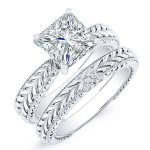 Azalea – Princess Solitaire Diamond Wedding Set