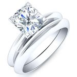 Senna – Cushion Solitare Diamond Wedding Set