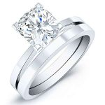 Lantana – Cushion Solitaire Diamond Wedding Set